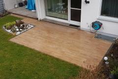 Terrasse aus Betonplatten in Holzoptik (2)
