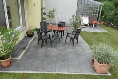 dunkle Granitplatten 40x40 cm