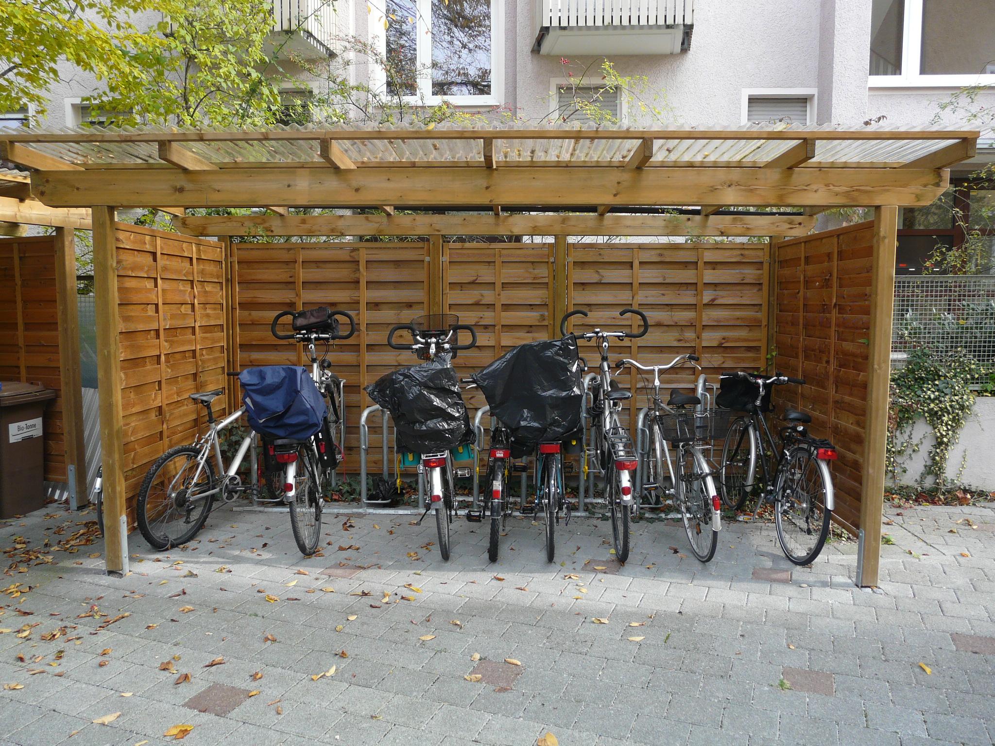 Haus für Fahrräder